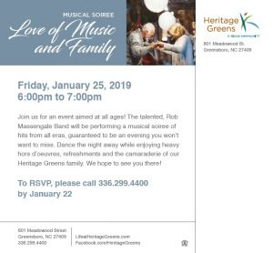 Love of Music and Family - Heritage Greens @ Heritage Greens