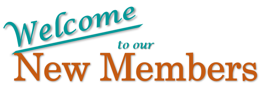Welcome New Members Jan-May 2020