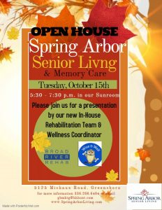 Open House at Spring Arbor @ Spring Arbor Senior Living