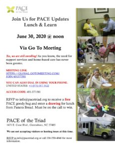 PACE of Triad Lunch & Learn