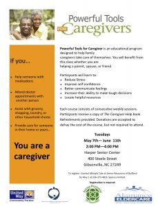 Powerful Tools for Caregivers @ Harper Senior Center