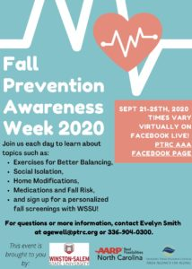 Fall Prevention Week (September 21-25)
