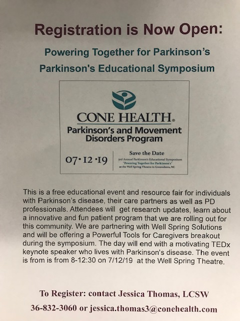 Cone Health Parkinson's and Movement Disorders Program