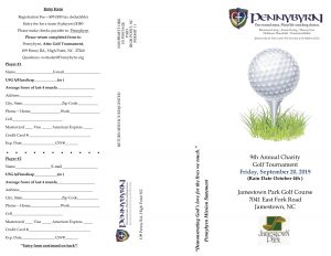 Pennybyrn 9th Annual Charity Golf Tournament @ Jamestown Park Golf Course