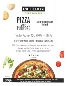 Pizza for a Purpose - A fundraiser for Senior Resources of Guilford @ Pieology