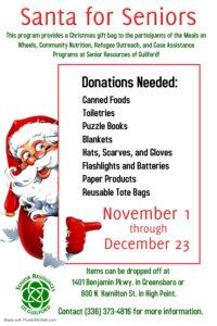 Santa for Seniors @ Senior Resources Guilford