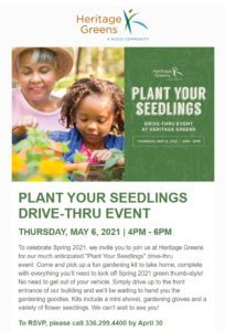 Plant Your Seedlings with Heritage Greens @ Heritage Greens