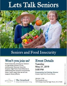 Seniors and Food Insecurity @ The Stratford