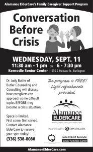 Conversation before Crisis @ Kernodle Senior Center