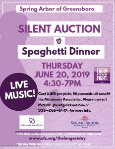 Silent Auction and Spaghetti Dinner @ Spring Arbor of Greensboro