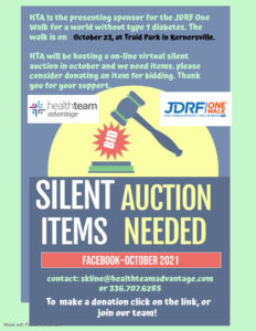 Walks to help charities and a Silent Auction!