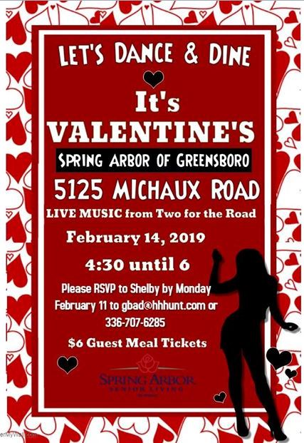 Valentines Dancing and Dining Event at Spring Arbor