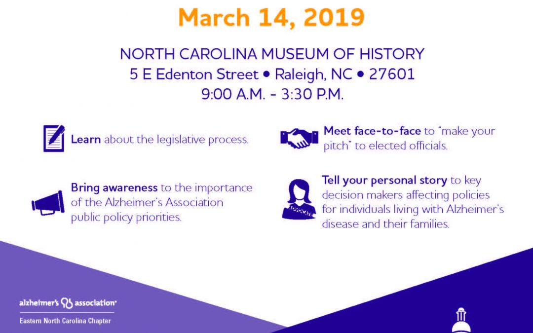 North Carolina State Advocacy Day for Alzheimer's is March 14, 2019