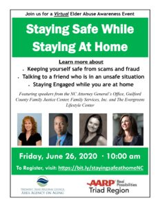 Elder Abuse Awareness Virtual Event @ Virtual
