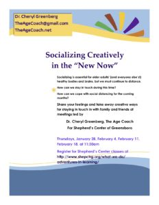 "Socializing Creatively in the ""New Now"" @ Online"