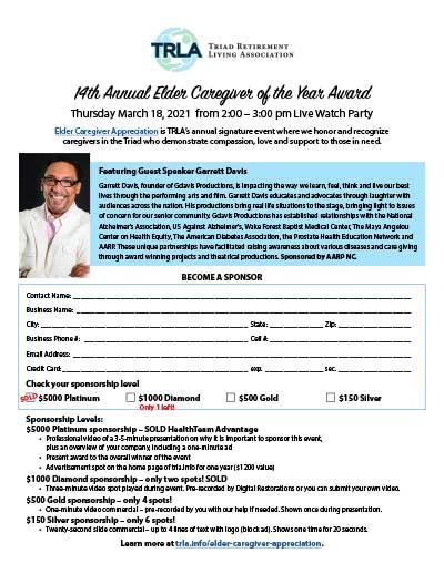 TRLA Caregiver Awards Sponsorship