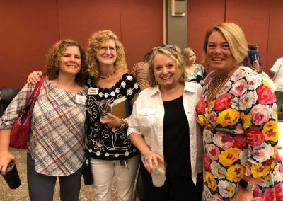 Corinne Auman, Diane Summerville, Peggy Smith and Mary Breth at monthly membership meeting hosted by Twin Lakes