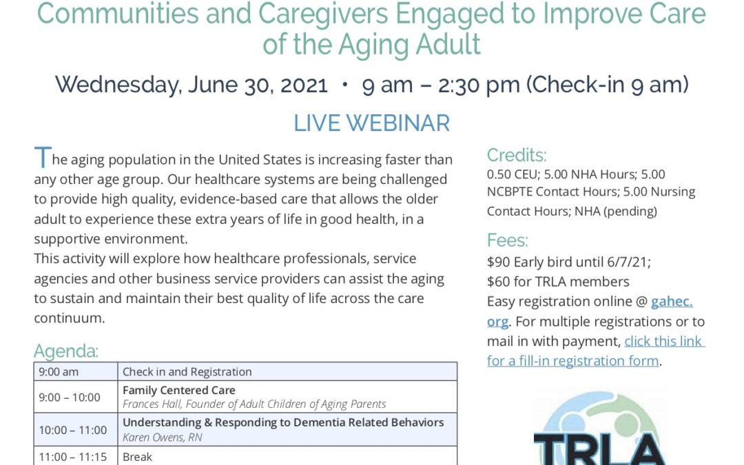 AHEC & TRLA Symposium Communities and Caregivers