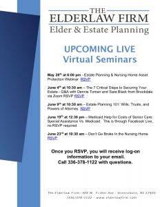 Live Virtual Seminars-Estate Planning 101: Wills, Trusts, and Powers of Attorney