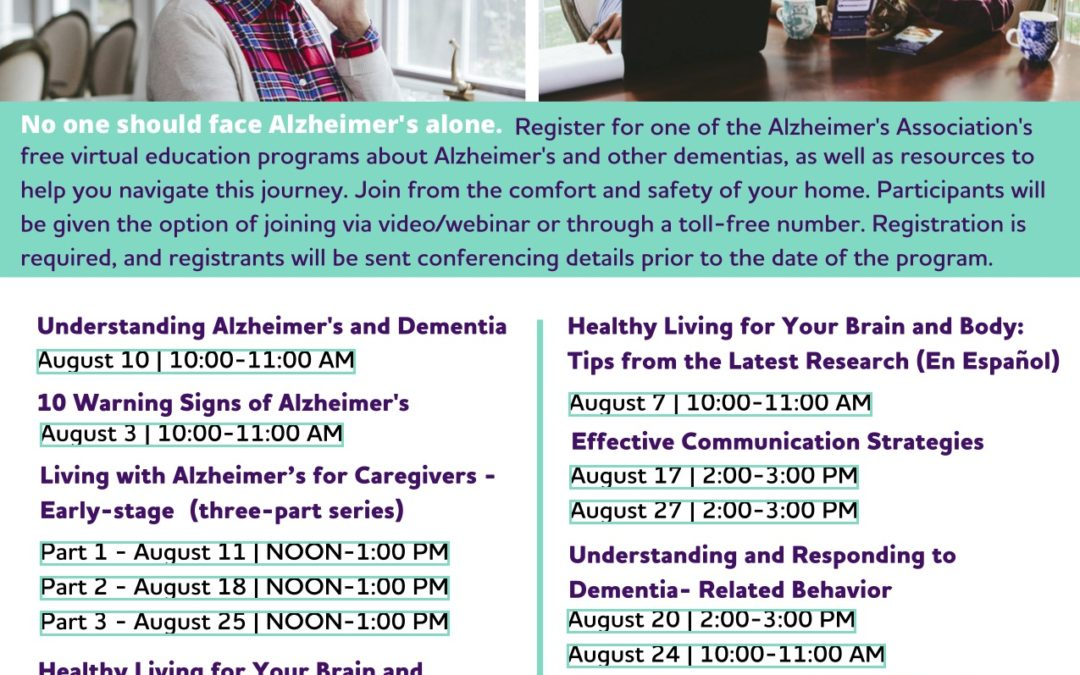 Virtual Education Programs by Alzheimer's Association