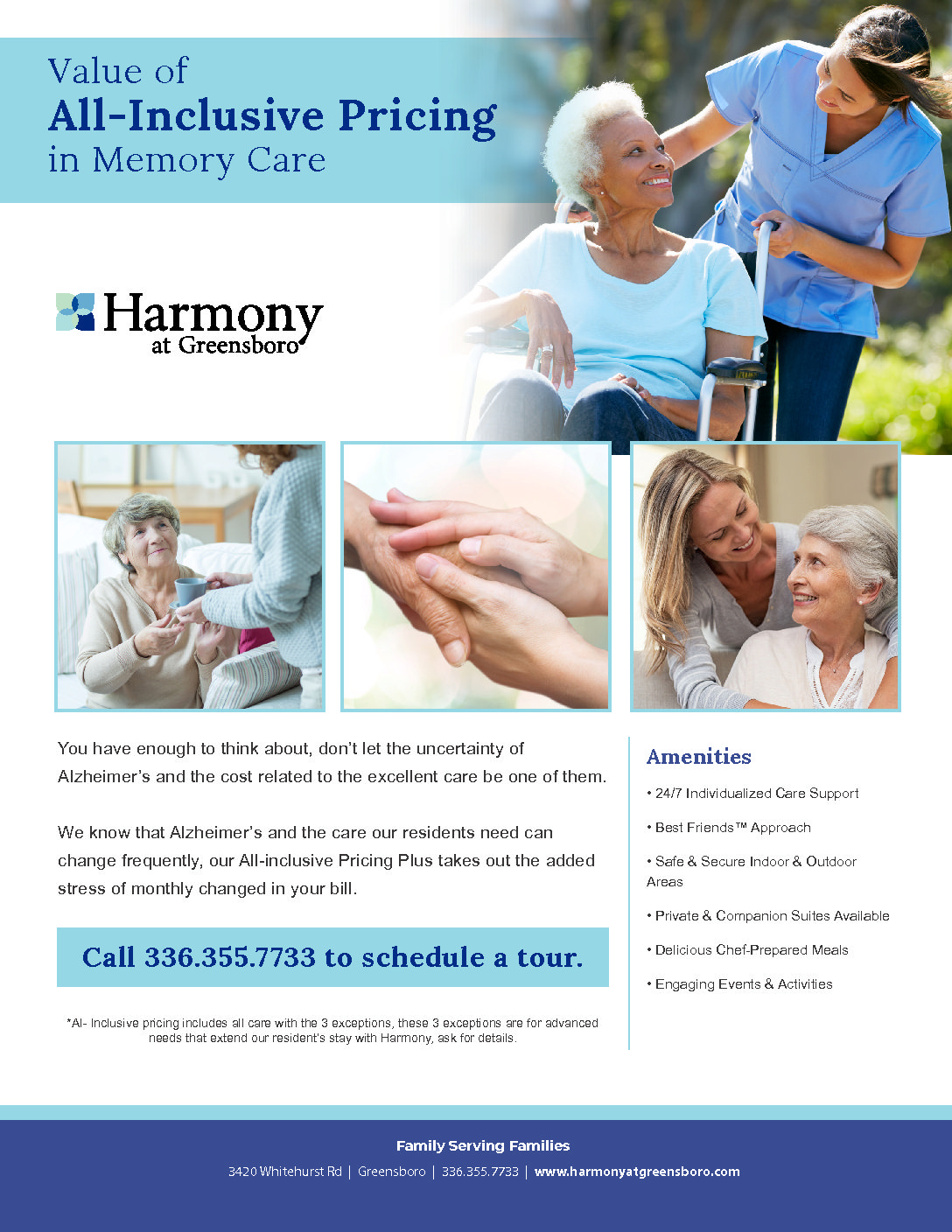 All Inclusive Pricing for Memory CARE!