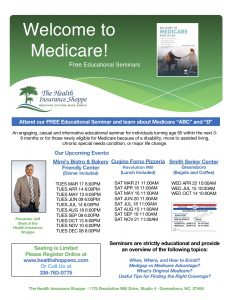 Medicare-Educational Seminars @ Mimi's Bistro & Bakery