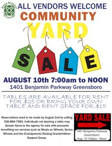 Community Yard Sale @ Senior Resources of Guilford