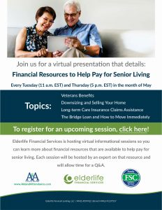 Financial Resources to Help Pay for Senior Living @ Virtual