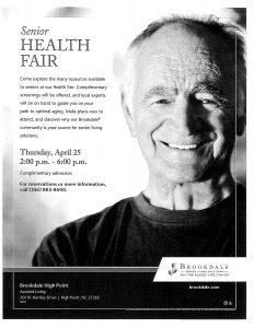 Senior Health Fair @ Brookdale High Point