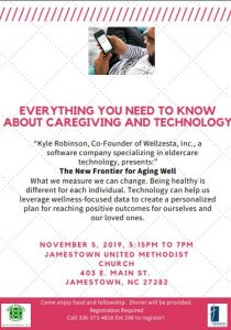 Everything you need to know about Caregiving and Technology @ Jamestown United Methodist Church