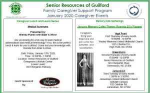 Caregiver Lunch & Learn Series @ Senior Resources of Guilford, The Evergreen Center