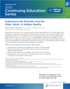 CEU's- Substance Abuse Disorder and the Older Adult @ Virtual-Zoom