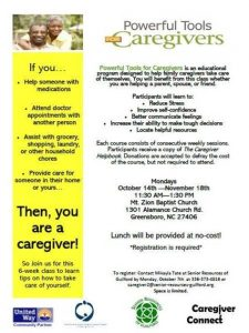 Powerful Tools for Caregivers @ Mount Zion Baptist Church