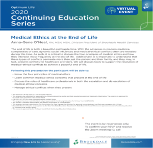 """Medical Ethics at the End of Life"" @ Zoom"