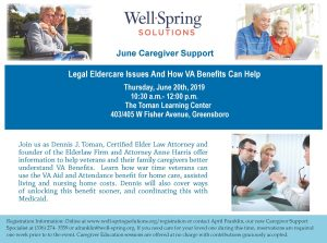 Legal Eldercare Issues And How VA Benefits Can Help @ The Toman Learning Center