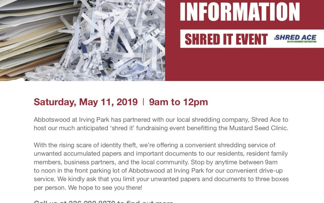 Protect Your Information Shred It Event - Triad Retirement Living
