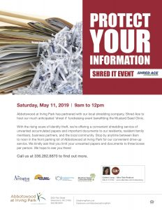Protect Your Information Shred It Event @ Abbotswood at Irving Park