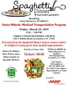 Spaghetti Dinner Fundraiser @ Christ United Methodist Church