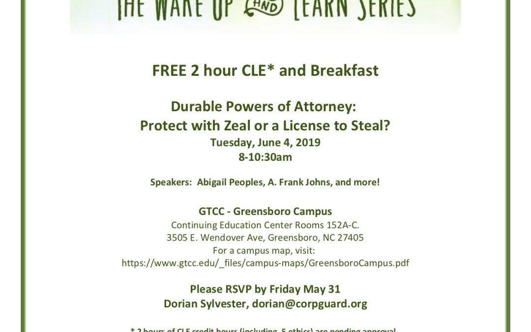 The Corporation of Guardianship presents The Wake Up and Learn Series